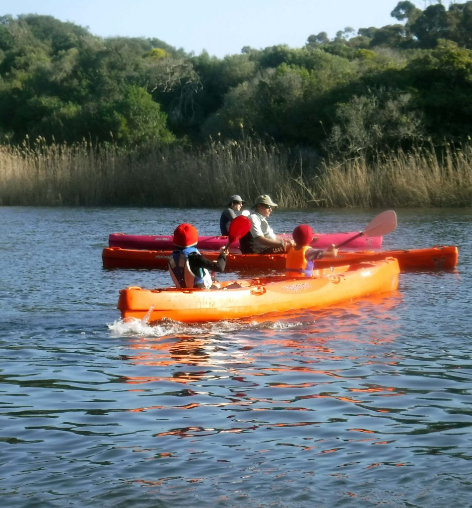 paddle experience - paddlers on Klein River, Stanford
